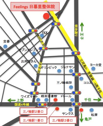三ノ輪駅からの地図