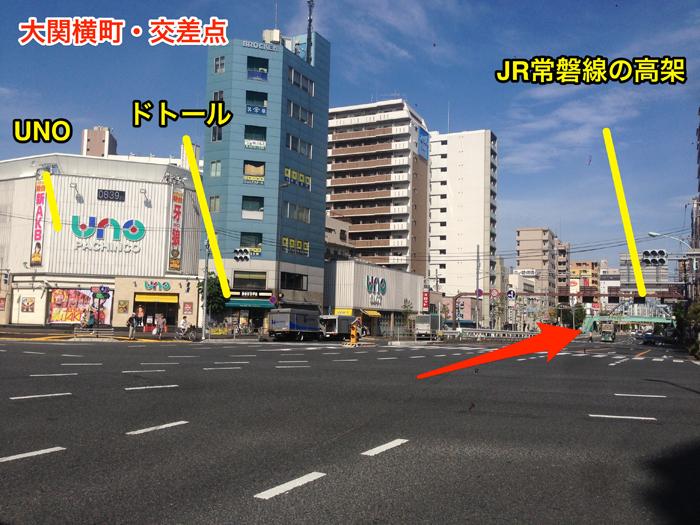 大関横町・交差点