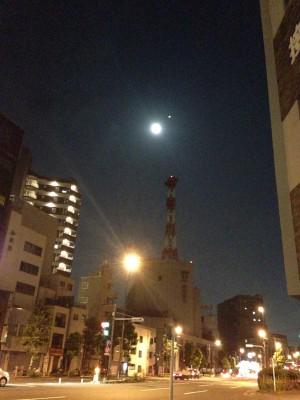 今日は満月…